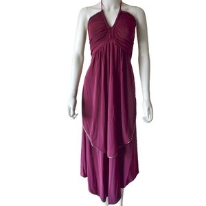 NWT Marc by Marc Jacobs Merlot Tiered Halter Dress